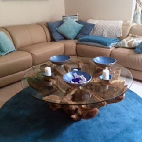 PJ_MAK_MJ451 Batu Large Teak Root Trunk Round Glass Top Coffee Table W110cm H48cm D110cm_001