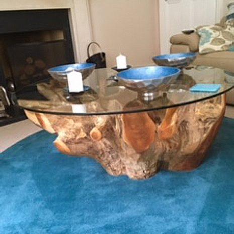 PJ_MAK_MJ451 Batu Large Teak Root Trunk Round Glass Top Coffee Table W110cm H48cm D110cm_003