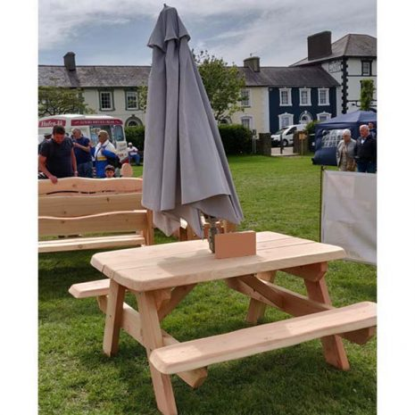 Rustic Handmade Natural Pine Picnic Table