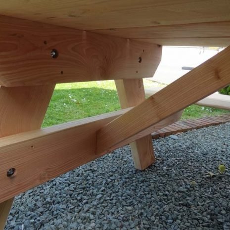 Strong and sturdy - A Frame Picnic Table Underside