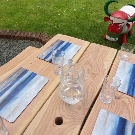 Welsh Handmade A Frame Rustic Picnic Table