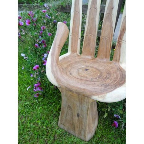 Bali Wooden Hand Chair – Close up of seat