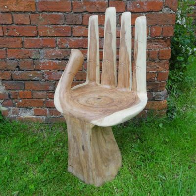 Bali Wooden Hand Chair – Large W50 D45 H88cm - Front