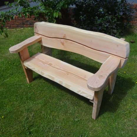 Handmade In Wales - 155cm Softwood Garden Bench 3 Seater