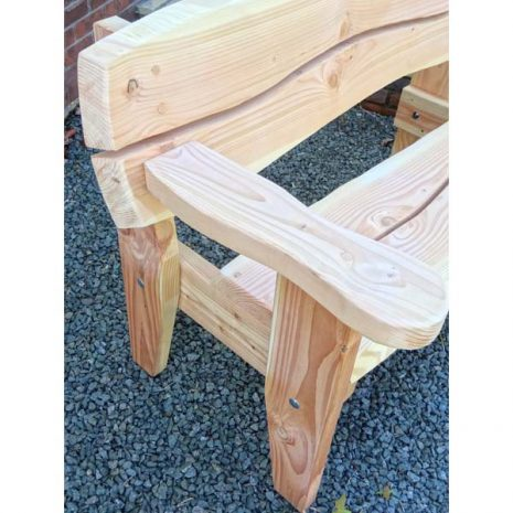 Handmade In Wales Garden Benches are solid strong and durable