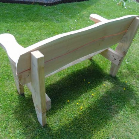 Handmade In Wales - Softwood Garden Bench - Rear view