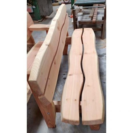 Handmade In Wales - Super Strong Armless Garden Bench - Side view