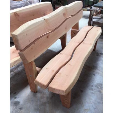 Handmade In Wales - Super Strong Armless Garden Bench - three quarter view