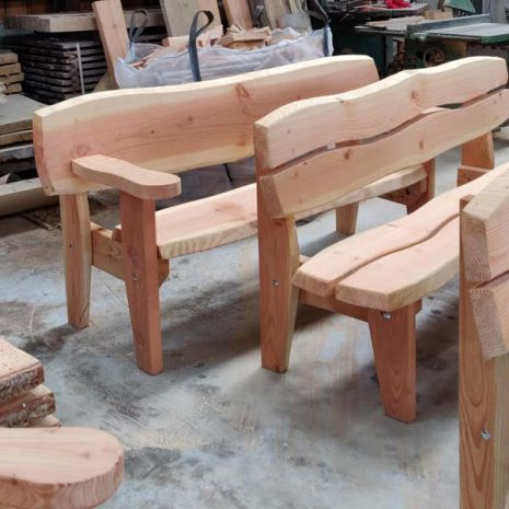 Handmade In Wales - Super Strong Garden Benches with or without armrests