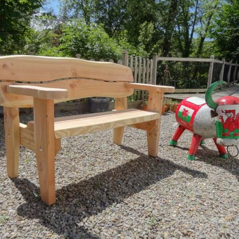 Handmade in Wales 155cm Softwood Garden Bench - 3 Seater