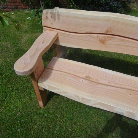 Handmade in Wales - Garden Bench Chunky Armrest
