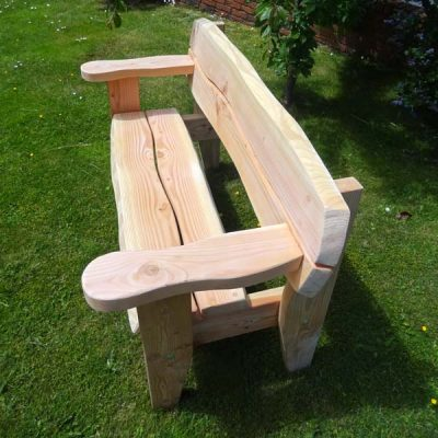 Handmade in Wales - Softwood 3 to 4 Seater Bench Garden PatioBench