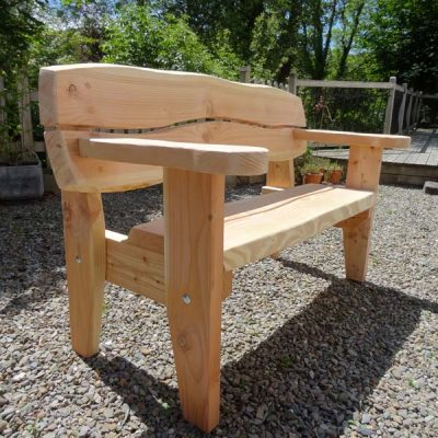 Handmade in Wales - Super Strong 3 Seater Bench - Softwood