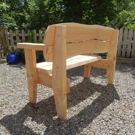 Handmade in Wales - Super Strong Softwood Bench from rear
