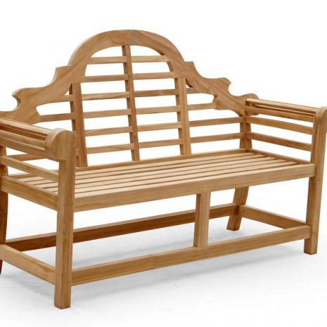 Lutyens 2 Seater Teak Bench 138cm