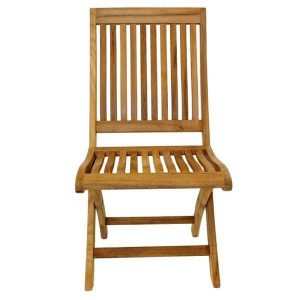 New Gainsborough Folding Teak Chair Front viewKH_KT914