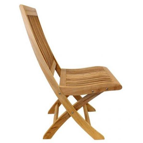 New Gainsborough Folding Teak Chair Side View KH_KT914