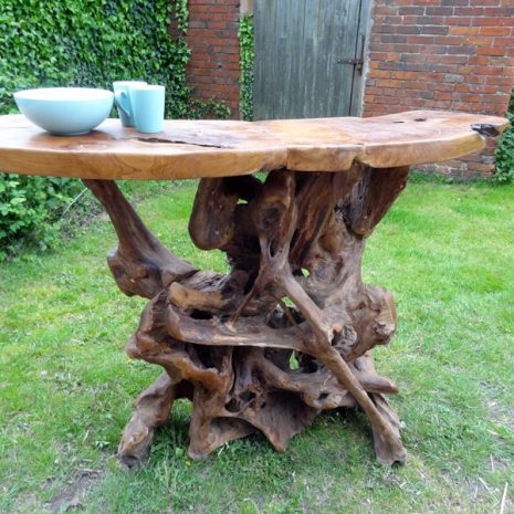 PJ_MAK_MJ586 Teak Root Slab Large Bar Dining Table_005