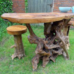 PJ_MAK_MJ586 Teak Root Slab Large Bar Dining Table_009