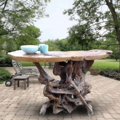 PJ_MAK_MJ586 Teak Root Slab Large Bar Dining Table_012