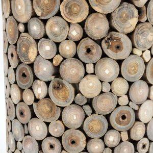 PJ_MSL_2363_Teak Root Vase Umbrella Stand 50cm Close Up