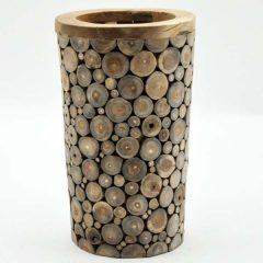 PJ_MSL_2363_Teak Root Vase Umbrella Stand 50cm Tall