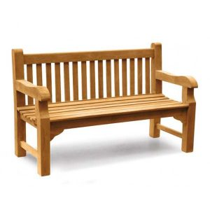 PJ_MSL_5826 Eliot 3 Seater Park Bench 152cm - Ideal Memorial or Commercial Bench