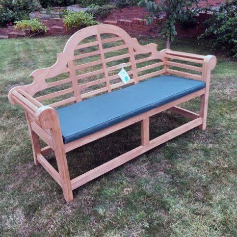 PJ_MSL_RN_5811 Classic Lutyens 168cm Teak Garden Bench with cushion