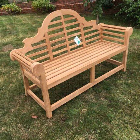 PJ_MSL_RN_5811 Classic Lutyens 3 Seater Teak Bench 168cm No CUshion