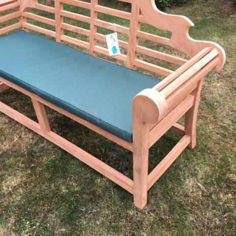 PJ_MSL_RN_5811 Classic Lutyens 3 Seater Teak Bench Armrest Scroll