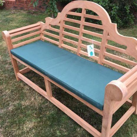 PJ_MSL_RN_5811 Classic Lutyens 3 Seater Teak Bench with cushion