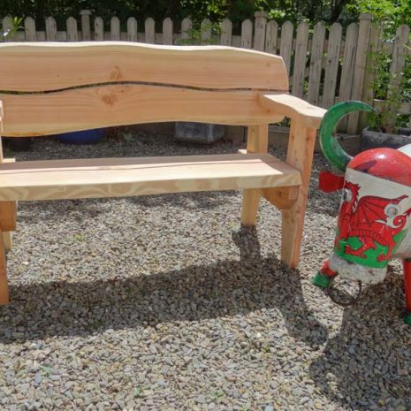 Welsh Made 155cm Softwood Garden Bench - Front view