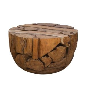 Ofili Reclaimed Teak Root Round Dome Coffee Table 70cm