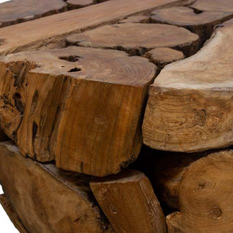 PJ_BB_63WAL - Ofili Reclaimed Teak Root Coffee Table - Close up