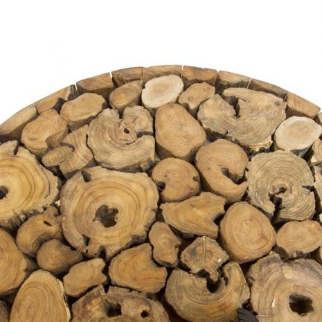 PJ_BB_73WAL_Ofili Reclaimed Teak Root 80cm Round Drum Coffee Table - Top close up