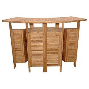 PJ_MSL_5836 Tahiti Curved Teak Bar Table 150cm
