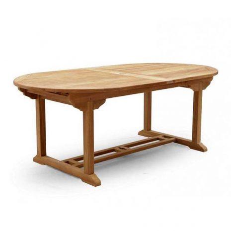 PJ_MSL_5841 Oswald Oval Teak Extending Table 210cm