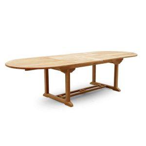 PJ_MSL_5842 Oswald Oval Teak Extending Table 240cm