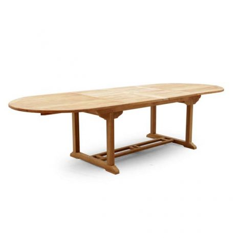 PJ_MSL_5842 Oswald Oval Teak Extending Table 240cm