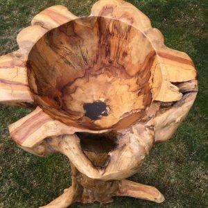 Teak Root Giant Bird Bath bowl