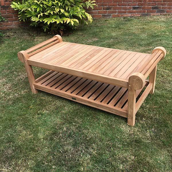 Lutyens Teak Coffee Table 136cm - Garden Patio Outdoor ...