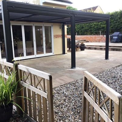 Mojave Large Metal Bifold Door Gazebo 350cm x 540cm