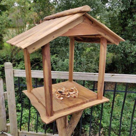 Reclaimed Teak Root Bird House Bird Feeding Station