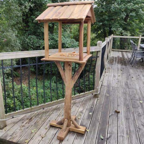Reclaimed Teak Root Bird House Bird Feeding Station Handmade