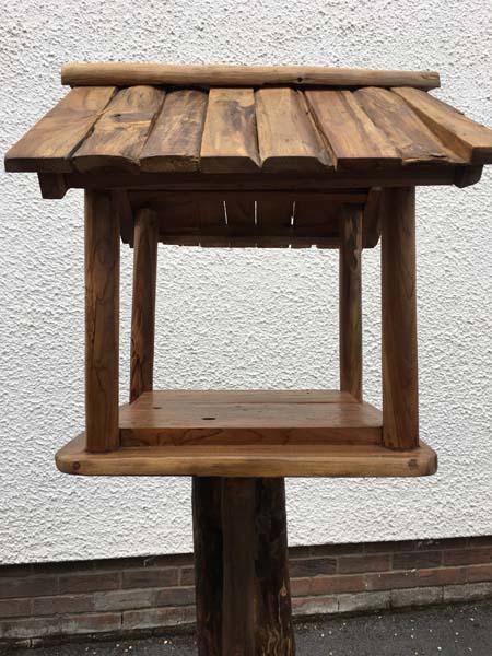 Teak Root Bird Table Feeding Station H 145 to 155cm