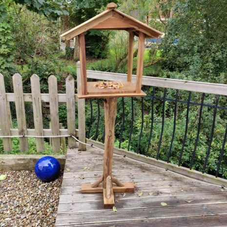 Teak Root Bird Table Feeding Station Handmade