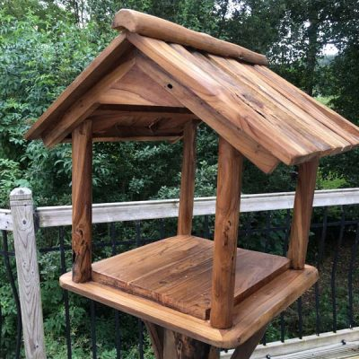 Teak Root Bird Table Feeding Station PJ_MAK_MJ70