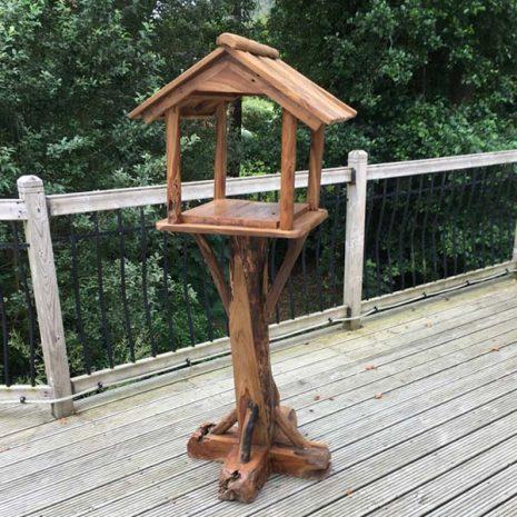 Teak Root Bird Table Feeding Station PJ_MAK_MJ70 A