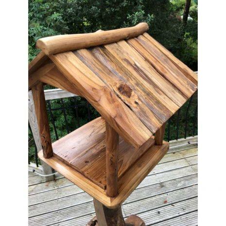 Teak Root Bird Table Feeding Station Roof