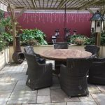 Janet P's LOWRY 6 SEATER RECLAIMED TEAK ROUND GARDEN DINING SET WITH FREE PATIO HEATER